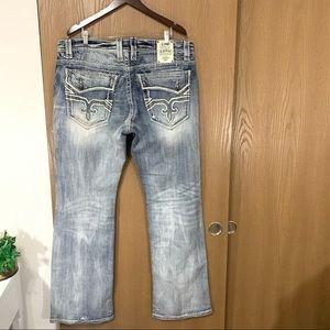 Rock Revival Themis Boot Jeans Light Wash Distress
